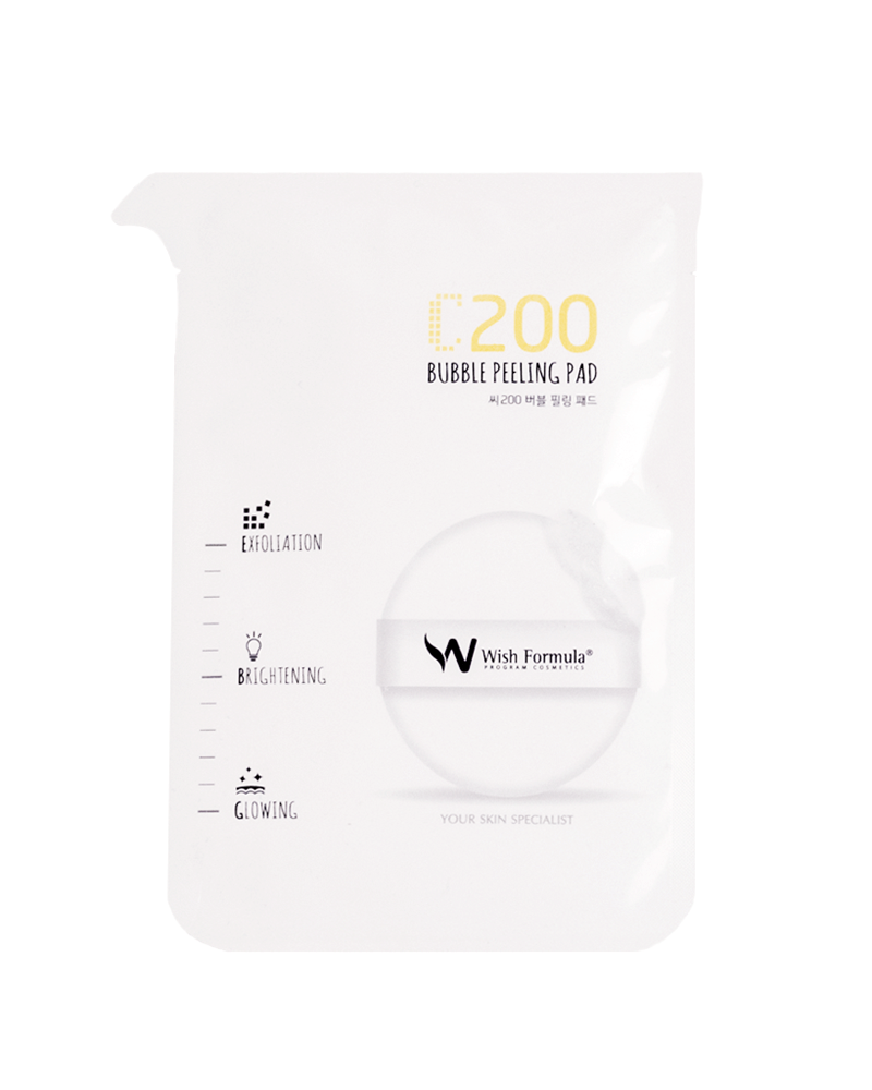 Wish formula C200 bubble peeling pad - face