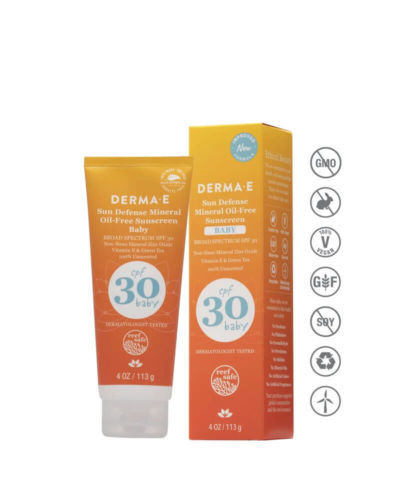 DERMAE Sun Defense Mineral Oil-Free Sunscreen Baby