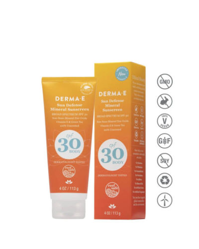 DERMAE Sun Defense Mineral Sunscreen SPF 30 Body