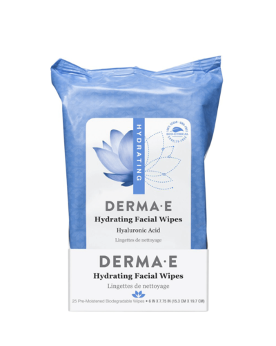 DermaE Hydrating Facial Wipes_våtservett_makeuprengöring_ansiktsservett