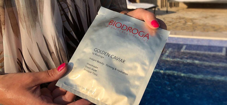 Test av Biodroga Golden Caviar sheet mask