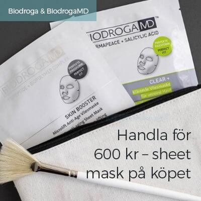 Handla för 600, få sheet mask på köpet
