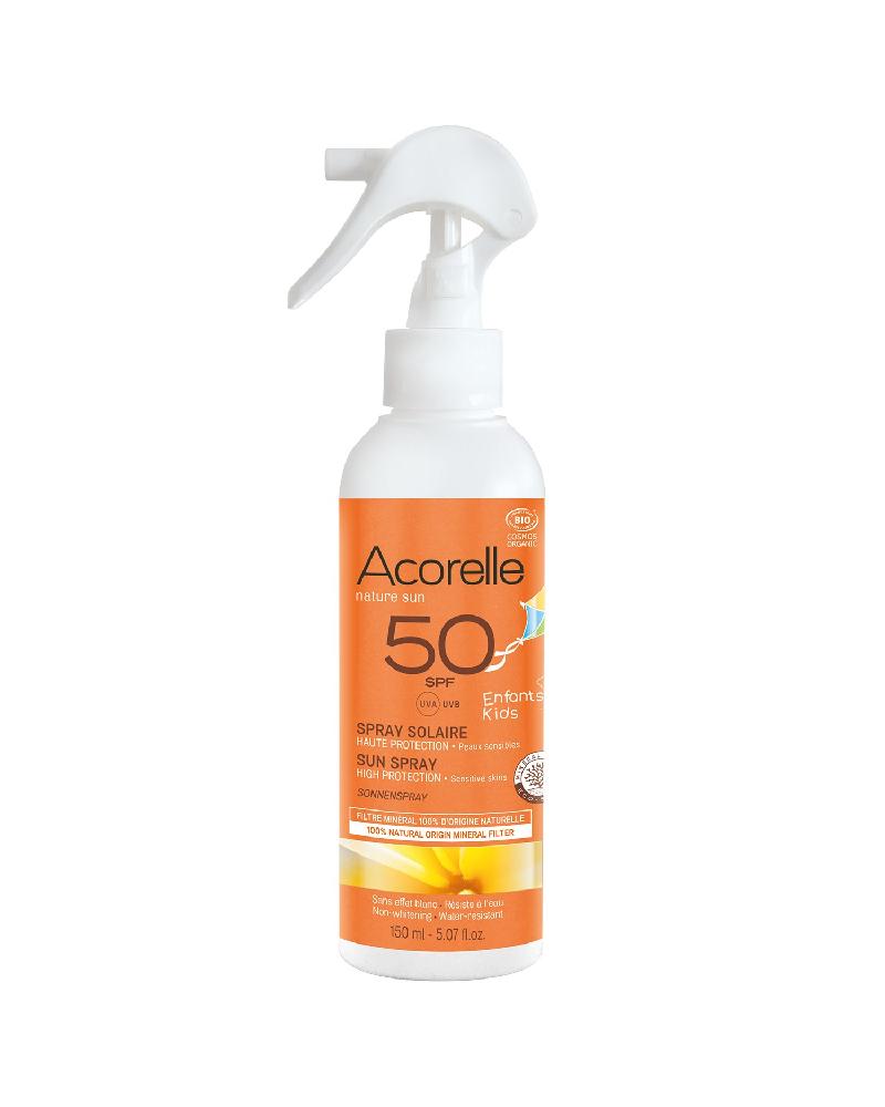 Acorelle-Solskyddsspray-för-barn-SPF50